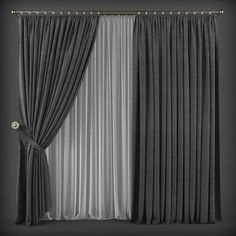 Curtains are indispensable for every home. You can look at our images to find stylish curtain models that are compatible with your furniture. 3 Window Curtains, Home Curtains, Modern Curtains, Curtains With Blinds, Beige Curtains, Interior Design Living Room, Interior Decorating, Living Room Decor Curtains, Classy Living Room