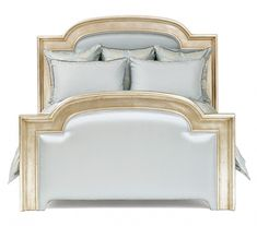 Louis-XVI Bed with Venetian Sterling Silver Finish