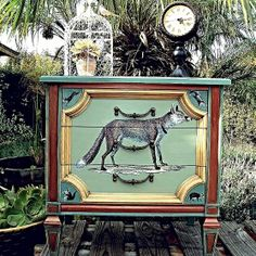 A Whimsical Foxy Woodland Side Table