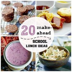 20 Make-Ahead School Lunch Ideas #BacktoSchool via @spoonful_com