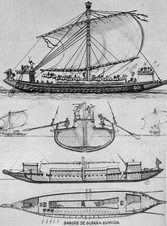 Prints of an Egyptian war ship. Ancient Egypt, Ancient History, Wooden Speed Boats, Naval History, Wooden Ship, Navy Ships, Egyptian Art, Boat Plans, Model Ships