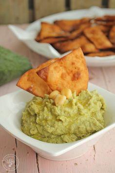 Cocinando entre Olivos: Cómo hacer Hummus de aguacate con nachos, receta paso a paso