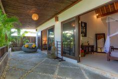 Upstairs terrace at Villa Kipas in Bali