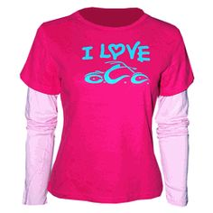 """Orange County Choppers OCC Girls """"I Love OCC"""" is a great fashion style for motorcycle and chopper fans who love the great antics of Paul Sr. and the gang.   This shirt is made of 100% cotton and has the sleeves attached for a comfortable soft feel."""
