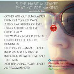 6 eye habit mistakes