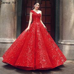 Luxury One Shoulder Wedding Dresses Real Photo Sequined Fashion High-end Vintage Bridal Gown Wedding Dresses Under 500, Wedding Dresses Plus Size, Ball Dresses, Ball Gowns, Dresses With Sleeves, Formal Evening Dresses, Elegant Dresses, Red Gowns, Bridal Gowns