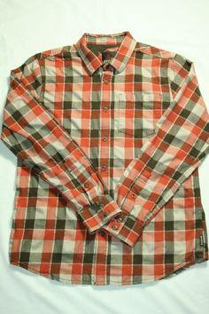 493c003660 Mens prAna shirt long sleeve button front plaid flannel western size M   prAna  ButtonFront