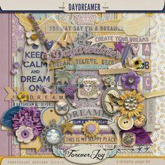 Digital Scrapbook Kit, Daydreamer by Forever Joy Designs