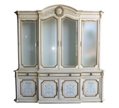 Karges French Provincial Gilt Framed China Cabinet on Chairish.com  sc 1 st  Pinterest & Vintage SPANISH Revival Rustic CHINA CABINET Bookcase Buffet Curio ...