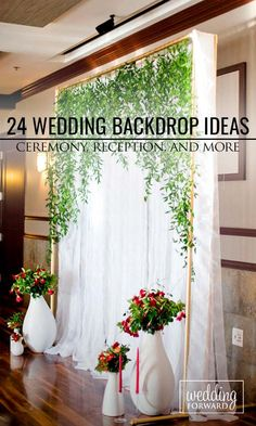 33 Wedding Backdrop Ideas For Ceremony, Reception and More ❤ Browse our wedding backdrop ideas gallery, find for yourself perfect paper or floral ideas with different colors and textures. Wedding Trends, Diy Wedding, Wedding Ceremony, Rustic Wedding, Dream Wedding, Reception, Wedding Ideas, Wedding Bride, Wedding Backyard