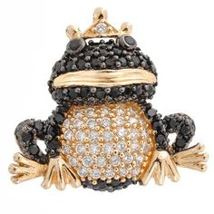 Bling Jewelry Gold Vermeil CZ Onyx Pave Frog Pendant Bling Jewelry. $64.99. Cubic Zirconia. Chain is not included. Gold vermeil plated. .925 Sterling Silver. Frog prince design. Save 52% Off!