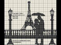 France - country - paris - point de croix - cross stitch - Blog : http://broderiemimie44.canalblog.com/