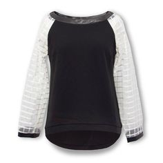 Find More Blouses & Shirts Information about Jasi & Co JSDJ2247 Color Block Long Sleeve Casual Round Hem Raglan Square Top With Check Pattern Organza Sleeve Fashion Clothing,High Quality top g,China top shop maxi dress Suppliers, Cheap top foam from Jasi & Co on Aliexpress.com