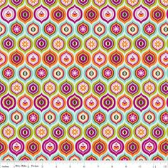 "13,80€/m Riley Blake "" Little Matryoshka"" aqua von Regenbogen-Design auf DaWanda.com"