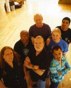 The Allman Brothers Band. 2003. Photo by Danny Clinch. (Front to Back) Warren Haynes, Gregg Allman, Marc Quinones, Jaimoe, Derek Trucks, Butch Trucks and Oteil Burbridge.