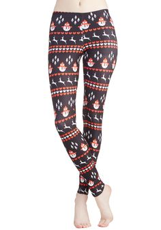 Wintry Wonder Leggings. Crisp, cold weather just got jollier thanks to these winter-themed leggings! #black #modcloth