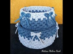 Corbeille crochet - YouTube Crochet Video, Creations, Poufs, Make It Yourself, Facebook, Couture, Instagram, Spool Knitting, Objects