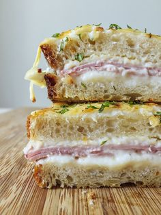 Mushroom Croque-Monsieur — Punchfork | Cravings | Pinterest ...