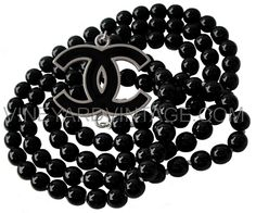 CHANEL BLACK PEARL & LARGE  NECKLACE