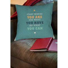 Thumbprintz Act Indoor Pillow, Green