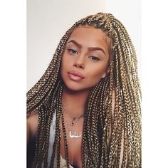 Blonde Crochet Box Braids : ... Hair Pinterest White Girl Braids, Girls Braids and White Girls