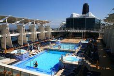 Did you take a #cruise through Alaska? Read: Aqua - Alaskan Nights www.amandasjones.com  Celebrity Solstice Main Pool