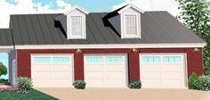 Garage Plan chp-52215 at COOLhouseplans.com