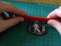 come incollare immagine sul fimo con vinavil e fimo liquid - polymer clay transfer - YouTube