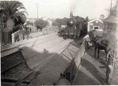 Porcalhota é hoje Amadora. Portugal, Old Trains, Train Tracks, Lisbon, Past, Street, Outdoor, Buildings, Old Pictures