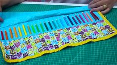 Dica de Sexta - Estojo de enrolar para 24 lápis (Tutorial Patchwork)