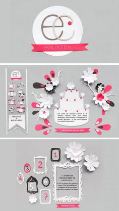 www.evacollin.com, papercraft by Mathilde Nivet