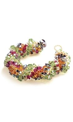 Multi-Strand Bracelet with Swarovski® Crystal Beads - Fire Mountain Gems and Beads