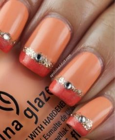 Nail Art Designs Gallery on Nice Photos Of Nail Art - Best Nail Art Photos Easy Nails, Easy Nail Art, Simple Nails, Love Nails, Pretty Nails, Fun Nails, Glitter Nails, Sparkly Nails, Gold Glitter