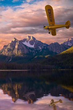 Piper J3 Cub, Stanley, Idaho by Greg Sims
