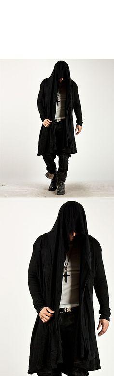 Avant Garde Unbeatable Style Force Hooded Diabolic Drape Long Cardigan 34