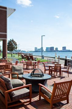 Ordinaire Our Harborside Patio Also Features Fire Pits For You And Your Family To  Enjoy At Night