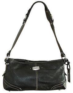 The Sak MOCLASS Black Leather Handbag Purse
