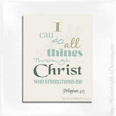 Christian Decor Print . Scripture Art . by WonderfullyMadeDecor, $5.00