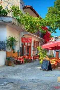 Little tavern in Skiathos , Greece
