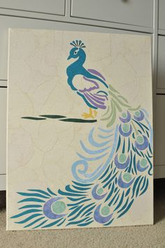 Crafts Are My Prozac: Emilie's Room - Peacock Paper Craft