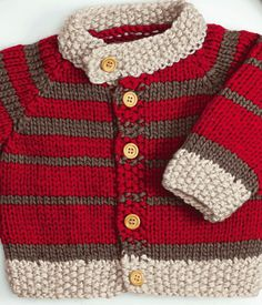 Grobstrick – A mix of mid-century modern bohemian and industrial interior style. Baby Cardigan Knitting Pattern Free, Baby Boy Knitting Patterns, Baby Sweater Patterns, Knitting For Kids, Knitting Designs, Baby Patterns, Knit Patterns, Baby Boy Sweater, Knit Baby Sweaters