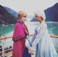 Elsa and Anna on a trip I wish I could join them on