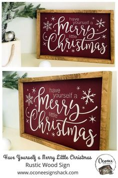 Looking for the perfect complement to your Christmas music decor? You've found it in this unique, hand-painted framed Have Yourself a Merry Little Christmas wood sign! It also makes a great gift for anyone who loves classic Christmas songs. Click the pin Christmas Wooden Signs, Christmas Wood Crafts, Holiday Signs, Christmas Frames, Farmhouse Christmas Decor, Christmas Table Decorations, Christmas Music, Rustic Christmas, Christmas Projects
