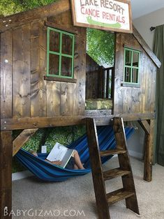 Very Cool Kids Room Ideas Clubhouse Bedroom from Baby Gizmo and other totally cool kids bedrooms Cool Kids Bedrooms, Awesome Bedrooms, Cool Rooms, Kid Bedrooms, Coolest Bedrooms, White Bedrooms, Kid Beds, Bunk Beds, Cool Kids Beds