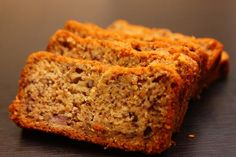 Amazing banana bread recipe (gluten-free, egg-free, sugar-free, dairy-free), includes subs for anything you want to omit.