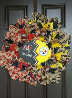Team Wreaths - Bucs/Steelers  -  House divided Order on Facebook  https://www.facebook.com/media/set/?set=a.790096881061071.1073741828.788713587866067&type=3