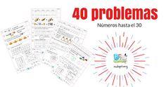 40 problemas para trabajar los números hasta el 30