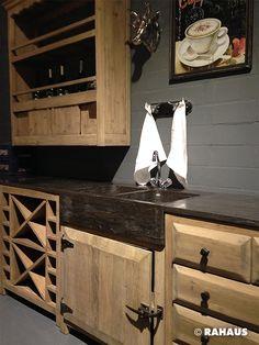 franz sisch kochen k che kitchen k chenzeile holz metall stein stone wood h ndeschrank. Black Bedroom Furniture Sets. Home Design Ideas
