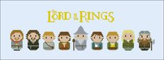 The Lord of the Rings - The fellowship of the Ring - Movies - Mini People - Cross Stitch Patterns - Products