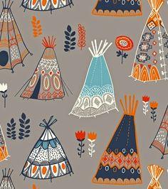 wildland-miriam bos for birch fabrics 9 Textiles, Textile Patterns, Textile Design, Fabric Design, Print Patterns, Arte Inuit, Arte Haida, Surface Pattern Design, Pattern Art